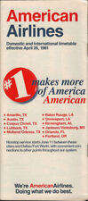 American Airlines system timetable 4/26/81 [308AA] Buy 4+ save 25%