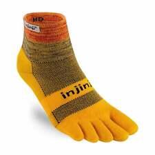 Injinji Socks Trail Midweight Mini Crew UNISEX Running Toe Socks Marigold