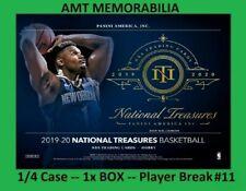 Mike Bibby Hawks 2019/20 Panini National Treasures 1/4X CASE 1X BOX BREAK #11