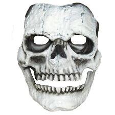 Adultos Halloween Blanco Esqueleto Cráneo Máscara Facial Maquillaje de espuma de látex Prótesis SFX
