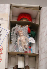 "Mib Danbury Mint Norman Rockwell ""Little Girl and Her Doll"" Porcelain Doll"