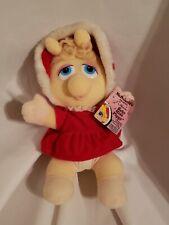 Vintage 1987 Miss Piggy Christmas Carol Plush Doll McDonald's Muppet Babies tag