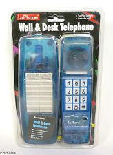 Vintage LaPhone LP1001 Blue/Clear Desk/Wall Mountable Retro Phone NIB