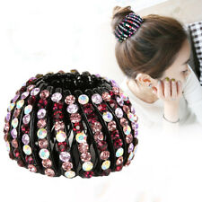 Women's Hair Clips Nest Hair Ties Pins Ponytail Holder Claws Crystal Accessories