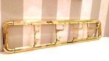 8er Gancio da Parete Mobile Ganci Appendiabiti Ottone Oro 63x14 CM