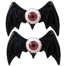 Kreepsville 666 Batty Eye Bow Slides Black Bat Eyeball Horror Halloween
