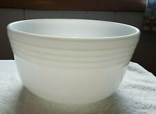 Pyrex Vintage Large White Milk Glass Banded Mixing Bowl Hamilton Beach Mixer