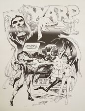 Rare Neal Adams Warp Print From 1973 Black And White 17.5 X 22.5
