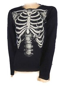 Skeleton Girls Long Sleeve Top. Halloween Horror.