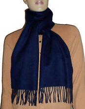 LUXE OH `DOR® 100% Cashmere Schal Scarf Navy Marine blue blau Herren One Size