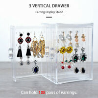 Acrylic Earring Storage Box Jewelry Necklace Display Stand Holder Rack Organizer