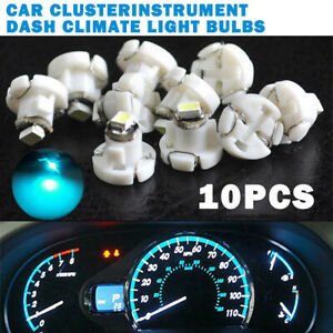 10*Ice Blue T4.2 Neo Wedge 1-SMD LED Cluster Instrument Dash Climate Bulbs Light