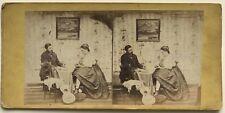Couple avec Guitare Scène de genre Picturale France Photo Stereo VAlbumine c186