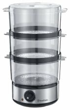 RUSSELL HOBBS 14453 7LTR COMPACT FOOD STEAMER WITH RICE BOWL