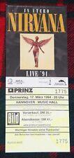 Original NIRVANA Concert ticket Hannover Germany In Utero Tour 1994