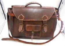 Vintage Leather Travel Bag Brown . WRBB265JA