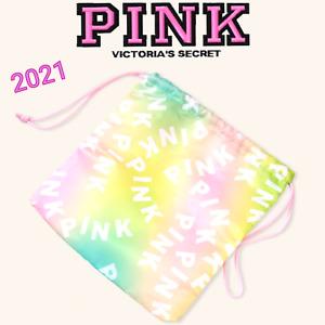 Victoria's Secret PINK reusable Drawstring Rainbow Logo Wet Dry Bikini Gift Bag