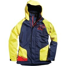 Fox Racing Performance Water Resistant Snow Jacket Hooded Blue Yellow NWT Mens M