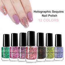 NICOLE DIARY 6ml Holographic Nail Polish Sequined Glitter Nail Art Varnishes DIY