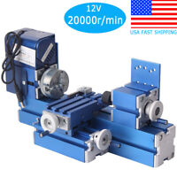Metal Mini Turning Lathe Motorized Metalworking Machine Wood DIY Tool for Hobby