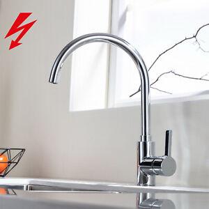 360° Niederdruck Küchenarmatur Wasserhahn Einhand Spültischarmatur für Küche