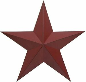 """Country Primitive Steel Metal Barn Star Antique Rustic Barn Star Wall Décor 18"""""""