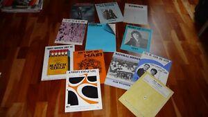 LOT OF 10 X 60'S & 70'S  POP SHEET MUSIC TOM JONES FAIR WEATHER MINDBENDERS