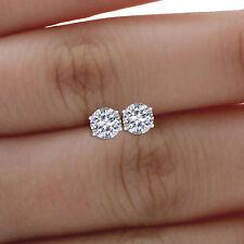 0.60 Ct Real Solitaire Diamond Stud 950 Platinum Earrings Womens