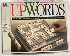 1988 Milton Bradley Upwords 3D Word Game Complete Good Condition!!