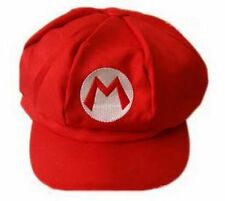 New Super Mario Bros Adult Kids Costume Hat Anime Cosplay Red Octagonal Cap
