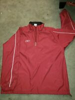 Vintage 90s Medium Red Reebok Mens Half Zip Pullover Windbreaker with Logo