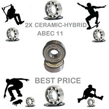 2 Precision Abec 11 hybrid ceramic bearings skate inline Skateboard scooter 9