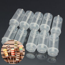 10Pcs Clear Push Up Pop Cake Containers Lids Shooters Birthday Party 18x4.5cm US