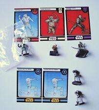 5 x Star Wars Miniatures Bothans Spy Ewok Warrior Advance agent Super Battle Droi