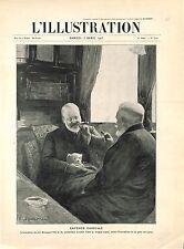 Entente Cordial Roi Edouard VII Président Loubet Wagon gare de Lyon GRAVURE 1905
