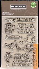 HERO ARTS clear stamp set HAPPY MOTHER'S DAY Birds Flowers  Coffee Mug