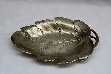 MAGNIFICENT ART DECO STERLING SILVER HAND HAMMERED LEAF DISH, CENTER PIECE