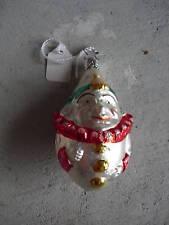 Vintage Glass Christmas Ornament Clown W Germany LOOK