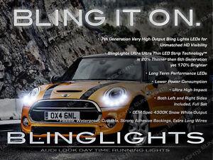2 X LED BMW MINI Cooper DRL Head Light Strips Day Time Running Lamp Kit set pair