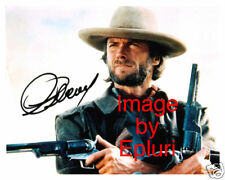 Clint Eastwood signed 8x10 rp color photo