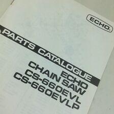 ECHO CS-660EVL CS-660EVLP CHAINSAW PARTS CATALOG MANUAL CHAIN SAW ILLUSTRATIONS