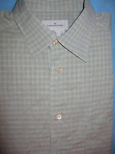 Ermenegildo Zegna cotton mint-grey casual shirt made in Italy 16.5 x 36 (S40)