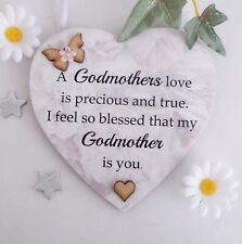 A Godmothers Love Christening  Godmother Gift Heart