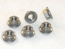 6x M10x1.25mm A4 316 Stainless Steel FLANGE Nuts Metric Fine YAMAHA sprocket