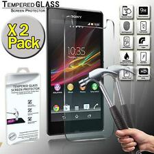 2 Pack Real Tempered Glass Screen Protector Cover For Sony Xperia ZL L35H C6503