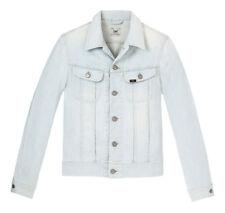 Neuf LEE fin Rider veste en jeans bleu clair coupe slim L LARGE