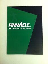 1992 Pinnacle Premium Player Cards NFL Promotional Pamphlet/Folder