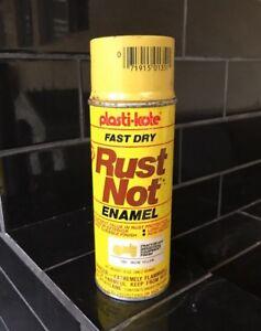 PLASTI-COTE RUST NOT ENAMEL 1970's Spray Paint Tin Can JOHN DEERE TRACTORS