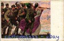 WW1 Propaganda - Sempre Avanti! - Ill. Metlicovitz - Alpini, Bersaglieri - AP324