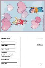 50 Ballonflugkarten Herzballons mit Kindern